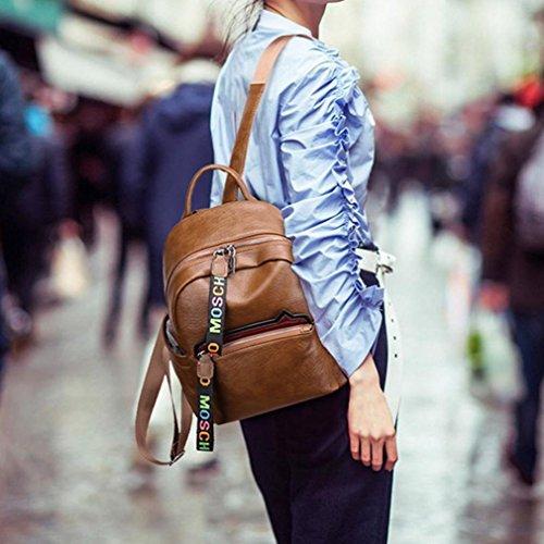 Cabas de main Femme messager Sac de Femme Femme de à sac Sac mode de Mode mode Main d'oreille de de à bandoulière de Sac voyage femme chat de JIANGfu Brun sac sac zyUcAXqA