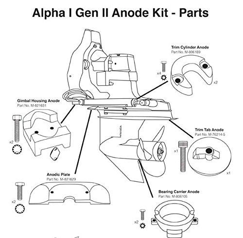 Amazon Com Mercruiser Alpha 1 Generation 2 Anode Kit