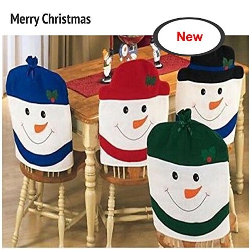 Snowman Chair Back Covers for Christmas