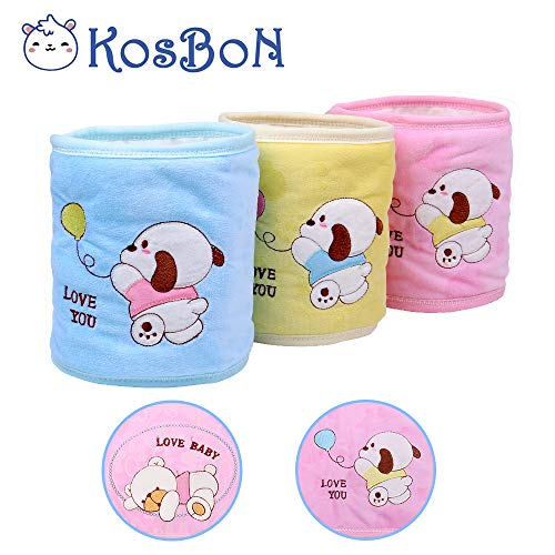 - Kosbon Pack Of 3 Pure Cotton Double Layer Cute Bear Pattern Baby Infant Umbilical Cord Umbilical Navel Hernia Truss Belt.