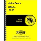 New Parts Manual For John Deere 31 Attachment (Rotary Tiller)