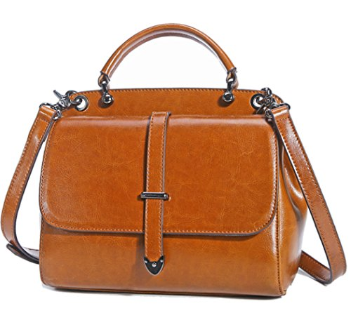 Hopeeye Woman Fashion Trends Leather Backpack Bag Crossbody Bag Elegant Leather Hand (gray) 2 Earthy Yellow