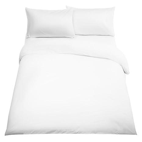 Luxury 200tc Percale Cotton Blend Duvet//Quilt Cover Set King Size Bed