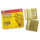 15 Piece Single Number Sets, Brass, 3 in (15 Pack)