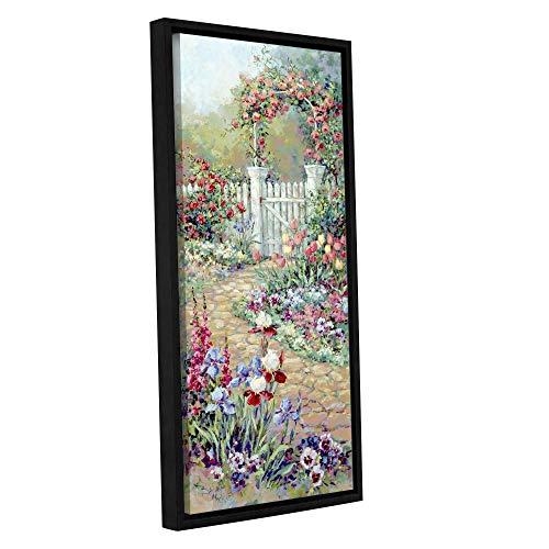 ArtWall Barbara Mock 'Roses Trellis' Gallery-Wrapped Floater-Framed Canvas 12x24