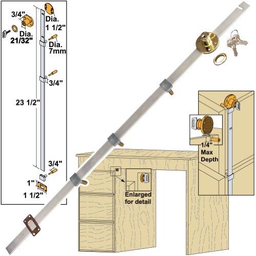 Platte River 153998, Hardware, Locks And Latches, Gang Locks, Side Locking 3-Drawer Gang Lock