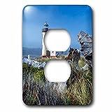 3dRose LSP_279284_6 USA, Oregon. Scenic of Umpqua River Lighthouse Plug Outlet Cover,