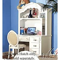 Student Desk with Hutch White Finish