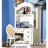 Student Desk with Hutch White Finish