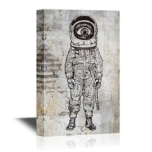 Amazement Astronaut Vector Illustration
