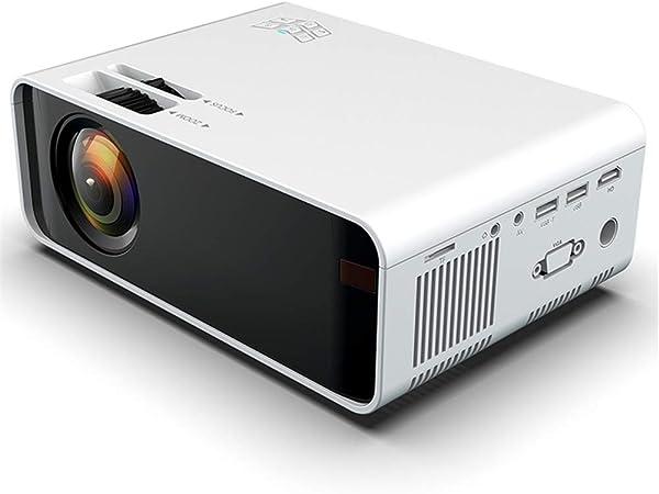 QinLL Proyector, proyector de vídeo Mini portátil LED con la ...