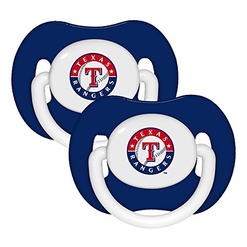 [Baby Fanatic Pacifier (2 Pack) - Texas Rangers Team Colors] (Baby Fanatic Pacifier)