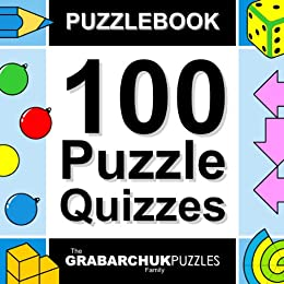 100 Puzzle Quizzes (Interactive Puzzlebook for E-readers) by [The Grabarchuk Family]