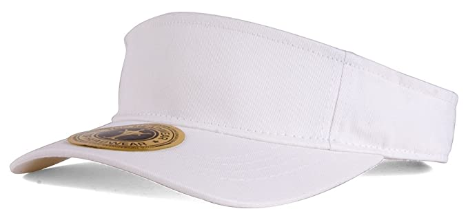 TOP HEADWEAR Plain Single Sports Visor- White at Amazon Men s ... c355a862c79b