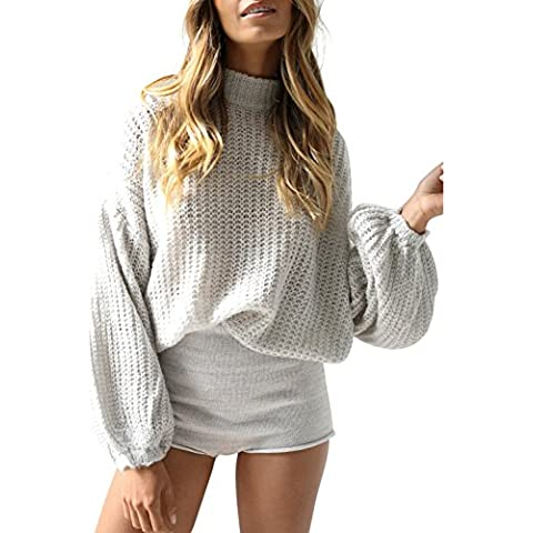 5c14a37148 Simplee Women s Casual Long Sleeve Loose Pullover Knit Sweater Jumper Top