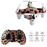 Cellstar RC Quadcopter Mini with Altitude Hold 4CH 2.4GHz 6-Axis Gyro Helicopter Drone for Kids (Leopard)