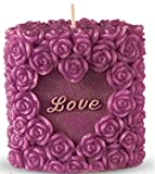 Romantic Love Candle, Rose Design, Smokeless, Elegant, Non-Drip, Fragrant, Rosy and Premium Quality Perfect for Weddings,Romantic Meetings and Dates