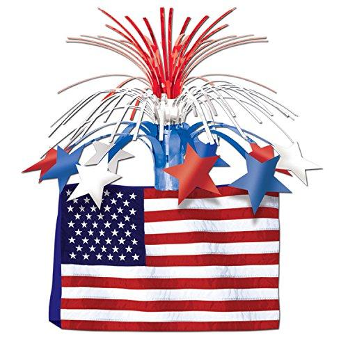 American Flag Centerpiece Party Accessory (1 count) (1/Pkg) ()