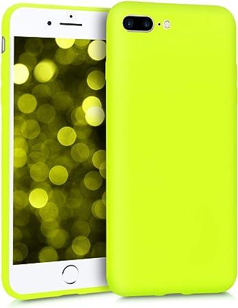 Kwmobile Hülle Kompatibel Mit Apple Iphone 7 Plus 8 Plus Handyhülle Handy Case In Neon Gelb Elektronik