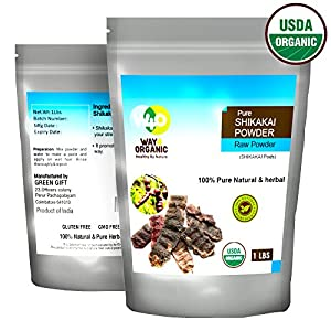 Organic Shikakai Powder, Acacia Concinna (Shikai Powder) - Best Natural Cleanser - 100% USDA Certified Organic - Way4Organic (One Lb - 16 Oz)