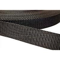 kraftz® Negro Polipropileno cincha correa 25mm x 3m