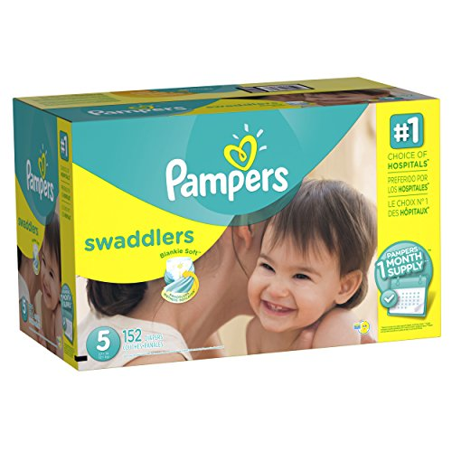 Pampers Swaddlers Disposable Diapers Size 5, 152 Count, ONE MONTH SUPPLY