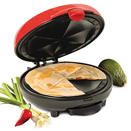 Nostalgia EQM200 6-Wedge Electric Quesadilla Maker with Extra Stuffing Latch
