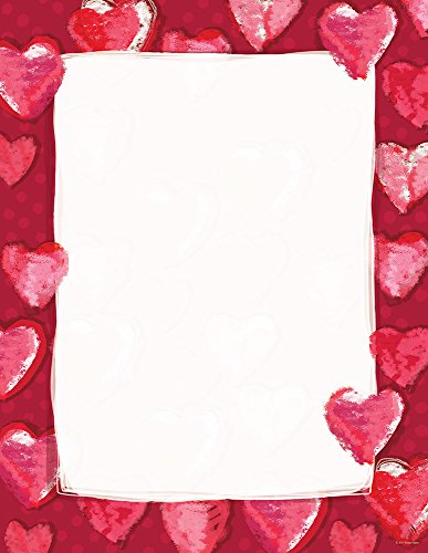 "Great Papers! Fuzzy Hearts Letterhead, 8.5""x11"", 80 Count (2012409)"