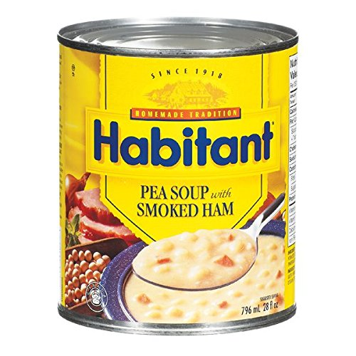 Habitant Split Pea With Smoked Ham Soup, 796ml - Imported from (Yellow Pea Soup)