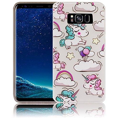 Samsung Galaxy S8+ S8 Plus Comic Haha Funda protectora de silicona Funda protectora suave Funda protectora contra el parachoques Funda protectora para teléfono móvil Funda protectora para teléfono móv Unicornio bebé