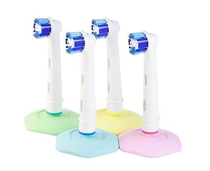 Soporte bHolder para cabezales de cepillos de dientes eléctricos Oral-B, solución higiénica, eficaz ventosa, 4 unidades, fabricado en Suecia