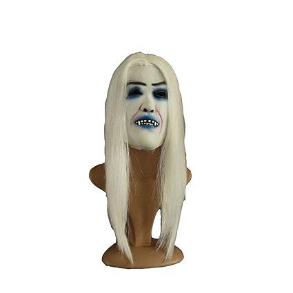 Uus Máscara de Miedo de Halloween, Peluca mueca Blanca Cosplay Peluca de Vampiro asustadiza 22