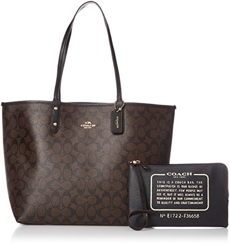 Coach Signature Reversible PVC City Large Tote Bag Handbag