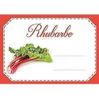 Mon Bio Jardin Lot de 30 étiquettes autocollantes rhubarbe pour confiture, compote, conserves maison