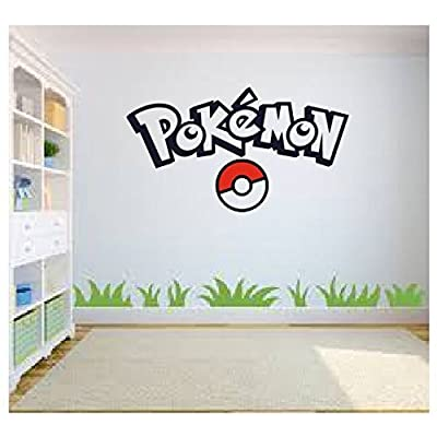 Pokemon Go Wall Art, Pokemon Wall Art, Wall Sticker Decal, Kids Room, Bedroom Wall Art: Home & Kitchen
