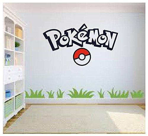pokemon go wall art pokemon wall art wall sticker decal kids room bedroom wall art amazon. Black Bedroom Furniture Sets. Home Design Ideas