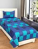 Zesture Bring Home Premium 144 TC Cotton Single Bedsheet with Pillow Cover - Geometric, Multicolour