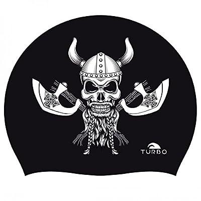 Turbo Bonnet natation silicone Viking Skull Silicone Cap