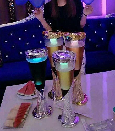 Plata Luz de cerveza dispensador de bebidas torre 3 litros con extraíble Tubo de hielo: Amazon.es: Hogar
