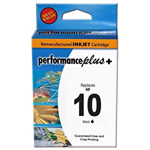 Performance Plus Remanufactured Ink Cartridge Replacement for HP C4844A 10 Black ( Black )