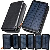 funks【圧倒的発電力で選ぶ】 ソーラー充電器 モバイルバッテリー ソーラー 6枚パネル 16000mAh 大容量 急速充電 防災