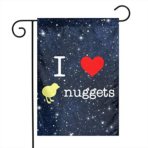 - FADFAF3124 I Love Chicken Nuggets Double Sided 12 X 18 Inch Garden Flag Seasonal Spring Summer Outdoor Funny Decorative Flags