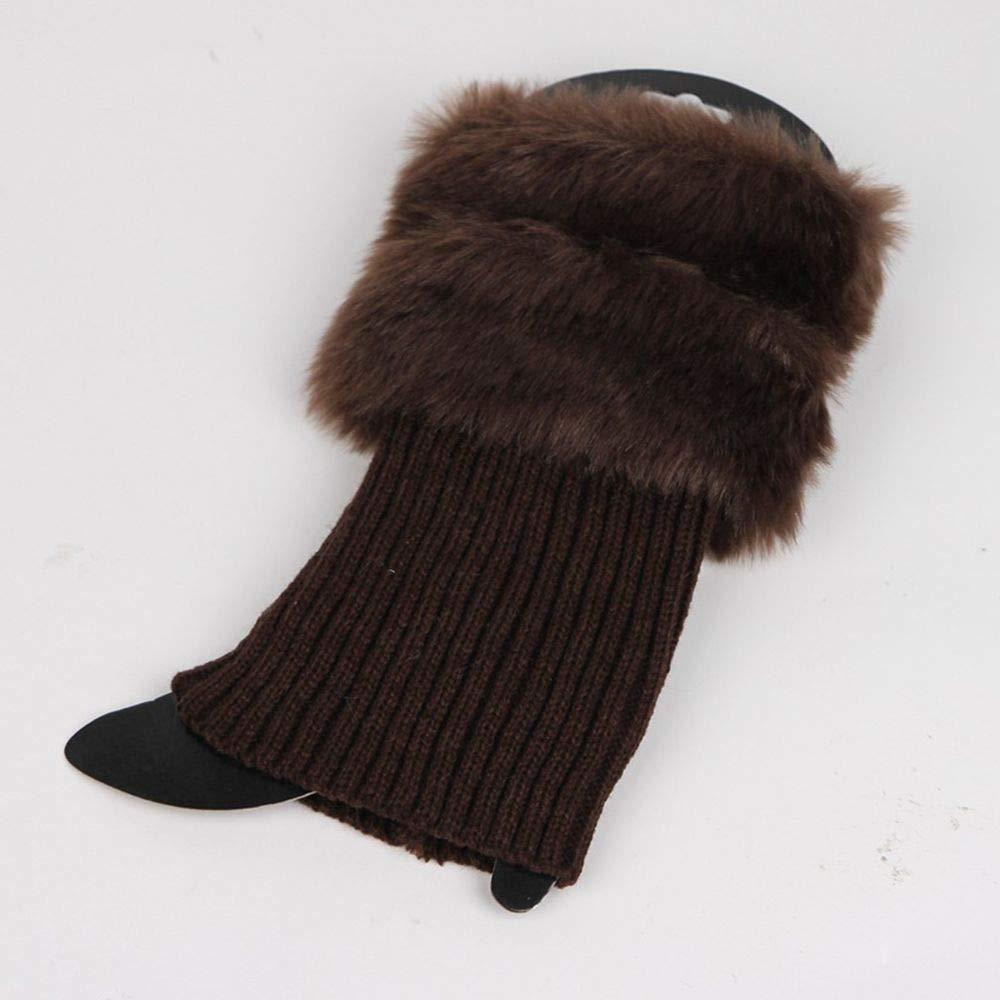 Cuff Cubre Botas de Piel Calentadores de piernas para Mujeres Calentadores de piernas con Piel sint/ética zhuangyulin6 Calentadores de piernas Caf/é Calcetines de Piel sint/ética para Mujeres