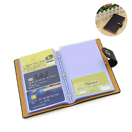 Business Card Holder Book Organizer PU Leather 300 Name Cards (Black)
