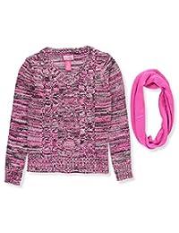 Dream Star Big Girls' Sweater with Scarf