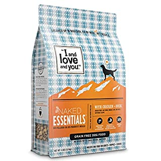 """""""I and love and you"""" Naked Essentials Dry Dog Food - Natural Grain Free Kibble, Chicken + Duck, Trial Size, 4-Pound Bag"""