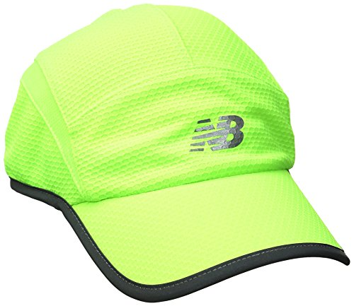 New Balance 5 Panel Performance Hat , Lime Glow, One (Lime Green Hat)