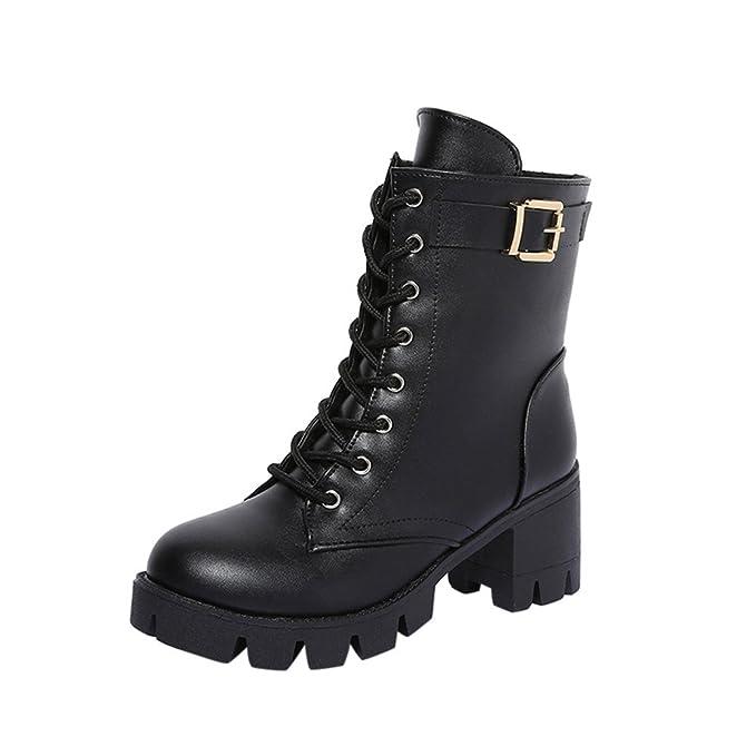 YiYLunneoBotas de Nieve Mujer Invierno Botines Tacones Cuadrados para Mujer Botas Botas Cortas de Felpa Botines Tacones Zapatos CN 35-40: Amazon.es: Ropa y ...