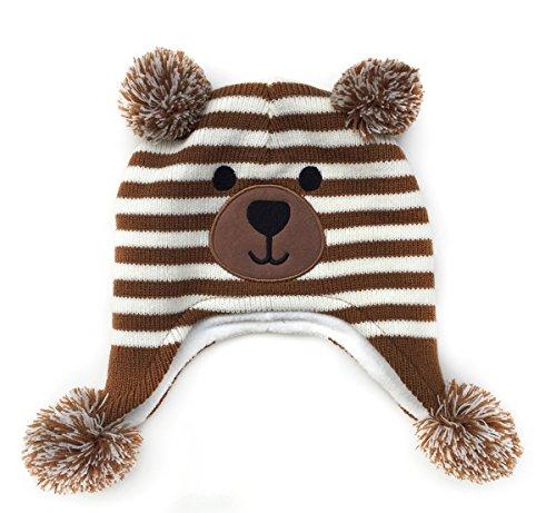 Sherpa Fleece Cap - LoveKids Girls and Boys Sherpa Lined Fleece Hat Earflap(2016023-Brown-XL)