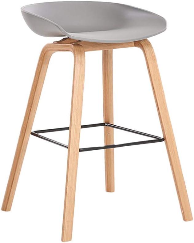 バースツールの純木の棒椅子の積み重ね可能な高い腰掛けのテーブルの腰掛けのベンチ (Color : Light gray, Size : Sitting height 64cm)